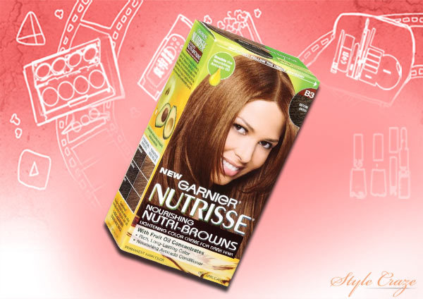 garnier nutrisse nourishing nutri browns lightening color creme for dark hair, reddish brown b2 (roasted coffee)