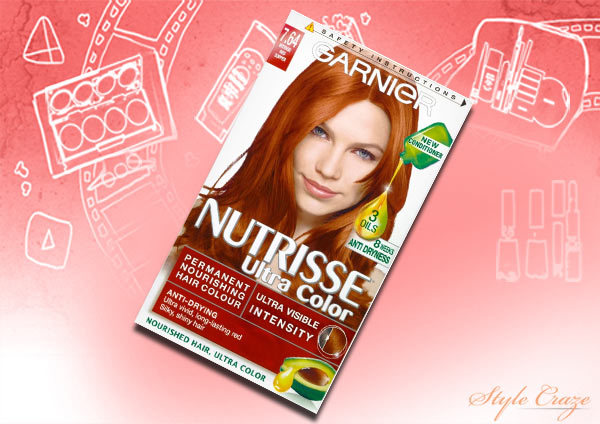 garnier nutrisse ultra color intense copper 7.64