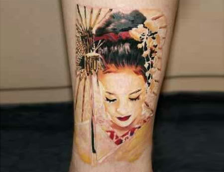 Geisha Wrist Tattoo