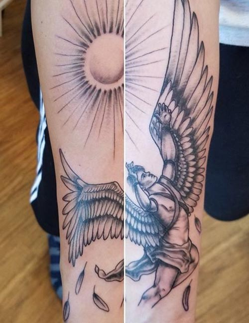 Greek Angel Tattoos