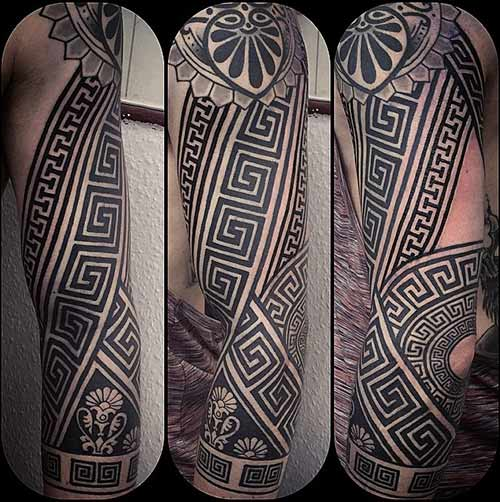 Greek Tribal Tattoos
