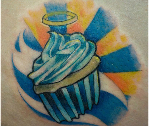 heavenly cupcake tattoo