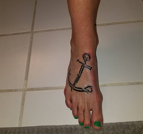 Hebrew Anchor Tattoo