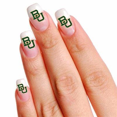 initials nail tattoo
