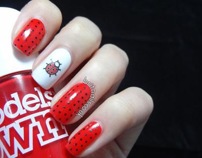ladybug nail tattoo