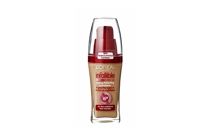 Best Foundations For Combination Skin - 8. Liquid - L'Oreal - Infallible 16hr foundation