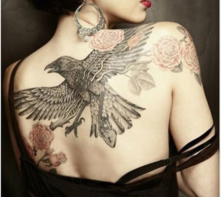 Lock Raven Tattoo
