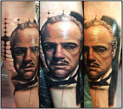 Marlon Brando Portrait Tattoo
