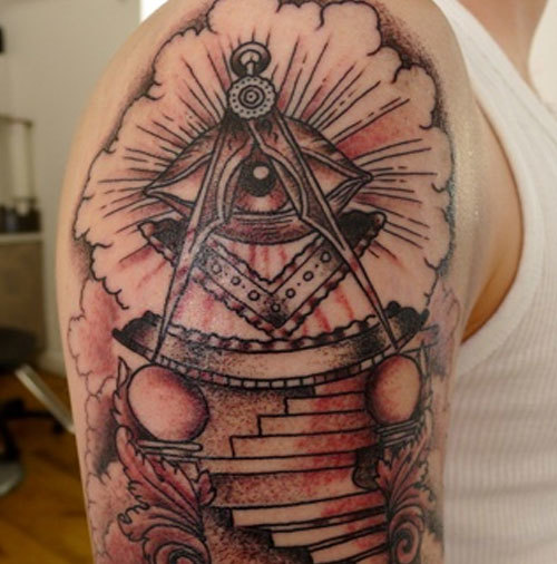 masonic eye tattoo