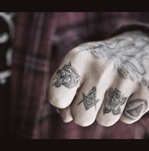 masonic Finger tattoos