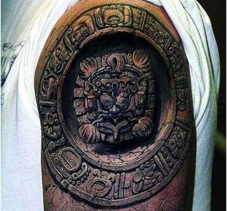 Mayan Upper Arm Tattoo