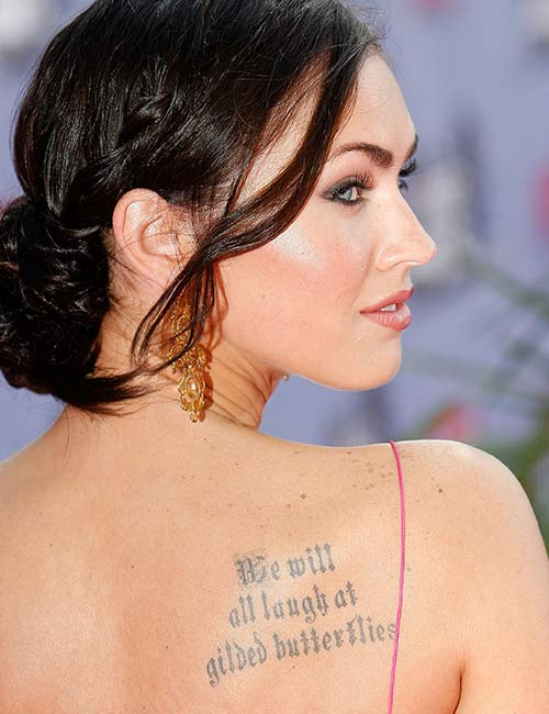 Megan Fox's Back Tattoo
