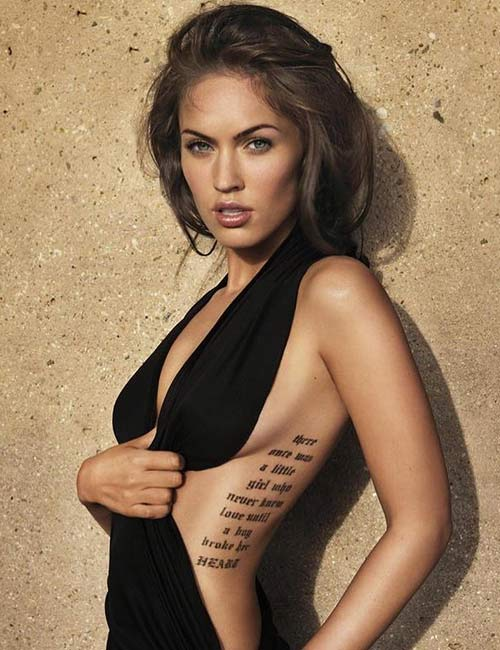 Megan Fox's Rib Tattoo