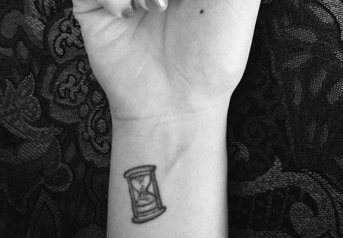 Miniature Hourglass Tattoo