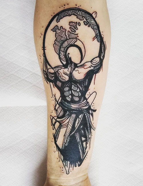 Muscle Tattoo On Inner Forearm