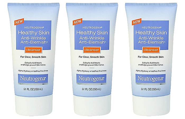 Neutrogena Anti-Wrinkle Anti-Blemish Cleanser - Neutrogena Face Washes
