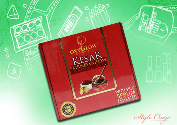 oxyglow kesar fairness glow facial kit