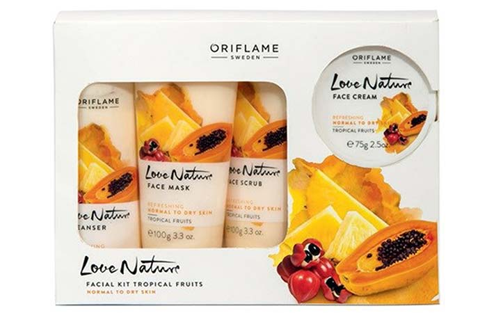 Oriflame Love Nature Tropical Fruits Facial Kit