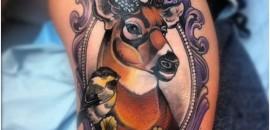 Ornate Deer Tattoo