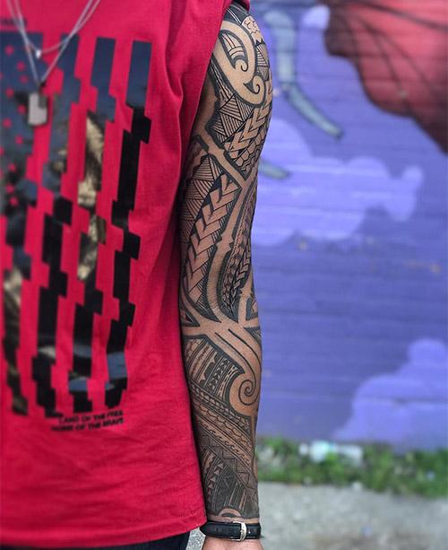 Polynesian Spearhead Motifs