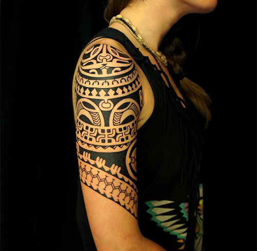 Polynesian Upper Arm Tattoo