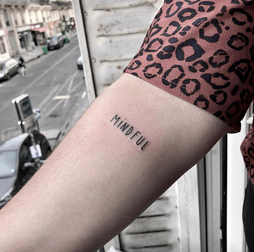 Power Word Tattoo On Forearm