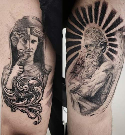 Realism Greek Tattoos
