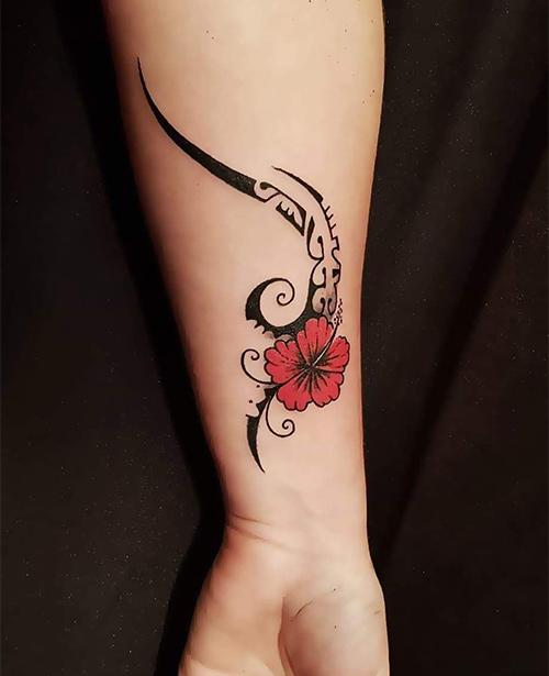 Samoan Floral Tattoo
