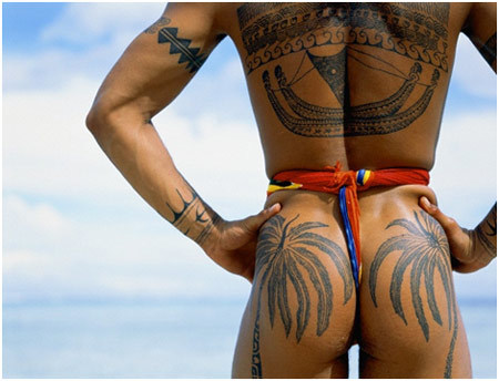 Samoan Palm Tree Tattoo
