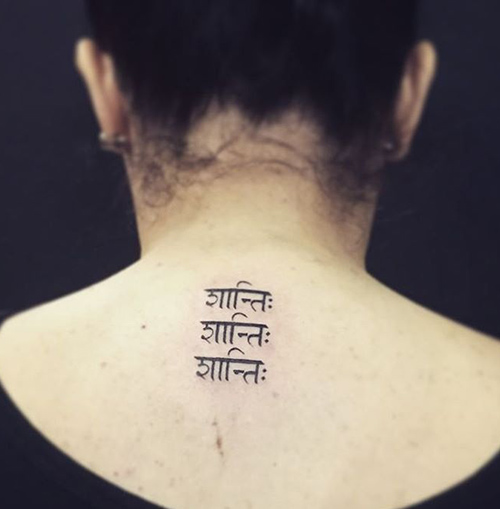 "Sanskrit ""Peace"" Tattoo"