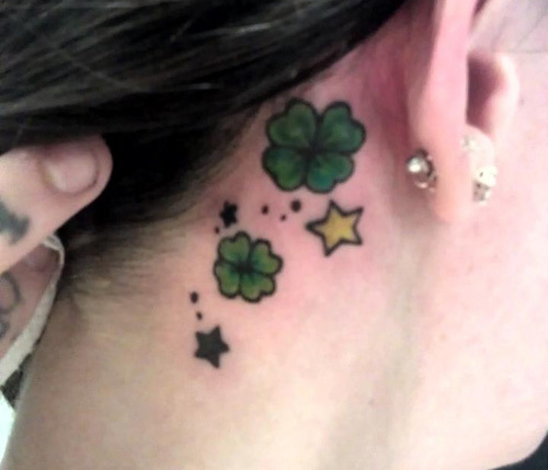 Shamrocks and Stars Tattoo