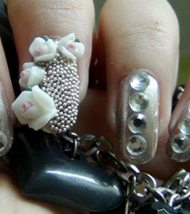 Silver Nail Art Design - A Step by Step Tutorial With Pictures
