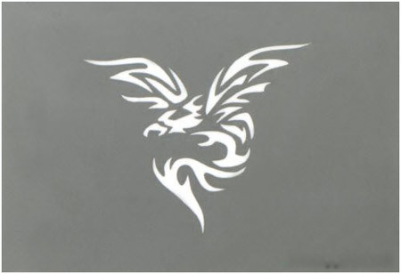 Silver Phoenix Miniature Tattoo