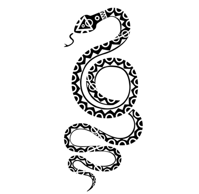 snake tribal tattoo