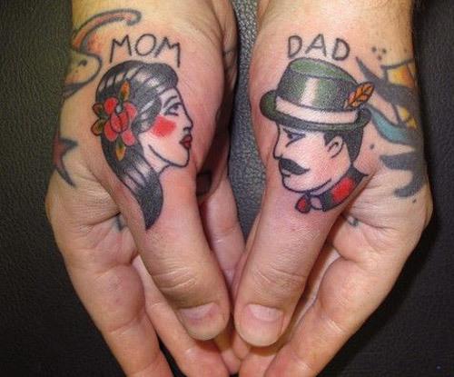 15 Touching Mom Dad Tattoo Ideas