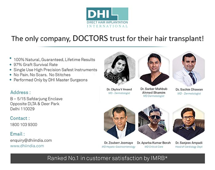Specialists And Clinics For Hair Transplant in Delhi