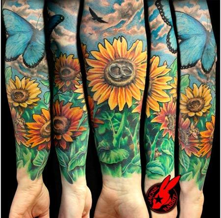 Sunflower Garden Tattoo