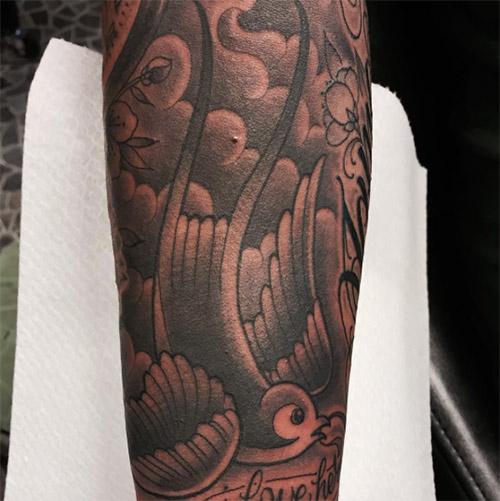 Swallow Tattoo in Black