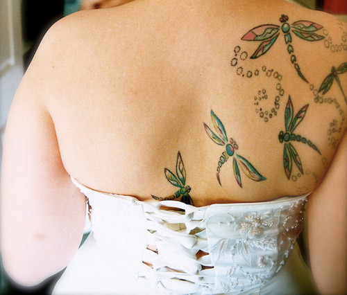 swarm of dragonflies tattoo