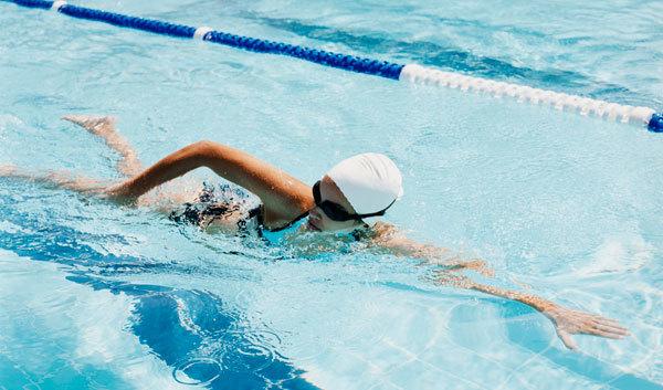 Swimming fast