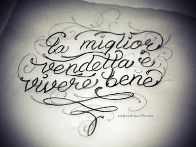 the best revenge is living well tattoo