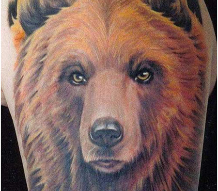 The Grizzly Head Tattoo