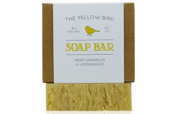 The Yellow Bird Neem, Geranium And Lemongrass Soap Bar