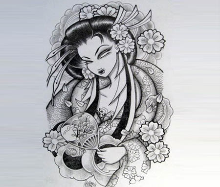 Traditional Geisha Art Tattoo
