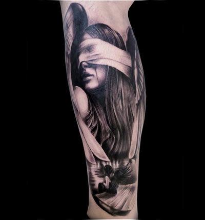 Tragic Portrait Tattoo