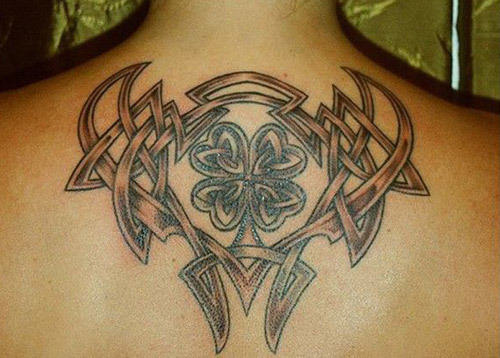 Tribal Art Inspired Shamrock Tattoo