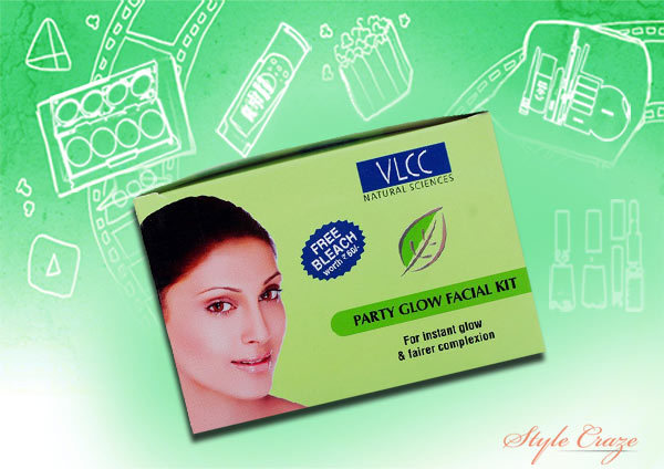 vlcc party glow single facial kit