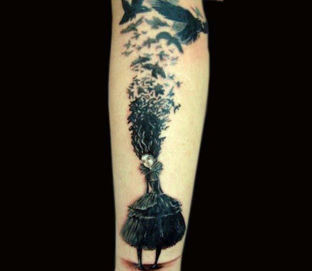 Witch Raven Tattoo