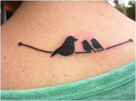 beautiful bird colors tattoo