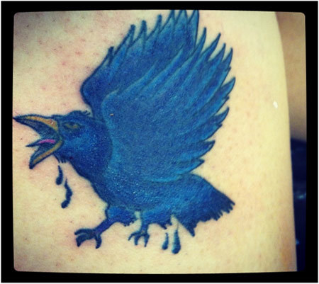 blue raven tattoos